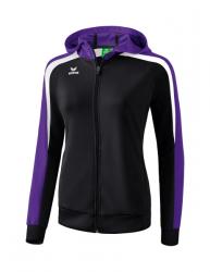 ERIMA Frauen Liga 2.0 Trainingsjacke mit Kapuze LIGA LINE 2.0 schwarz/violet/weiß