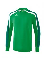ERIMA Kinder / Herren Liga 2.0 Sweatshirt LIGA LINE 2.0 smaragd/evergreen/weiß