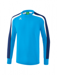 ERIMA Kinder / Herren Liga 2.0 Sweatshirt LIGA LINE 2.0 curacao/new navy/weiß