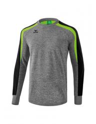 ERIMA Kinder / Herren Liga 2.0 Sweatshirt LIGA LINE 2.0 grau melange/schwarz/green gecko