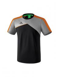 ERIMA Kinder / Herren Premium One 2.0 T-Shirt PREMIUM ONE 2.0 schwarz/grau melange/neon orange (+3% Zusatzrabatt)