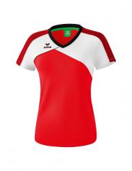 ERIMA Frauen Premium One 2.0 T-Shirt PREMIUM ONE 2.0 rot/weiß/schwarz