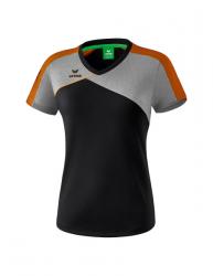 ERIMA Frauen Premium One 2.0 T-Shirt PREMIUM ONE 2.0 schwarz/grau melange/neon orange (+3% Zusatzrabatt)