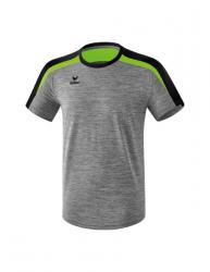 ERIMA Kinder / Herren Liga 2.0 T-Shirt LIGA LINE 2.0 grau melange/schwarz/green gecko
