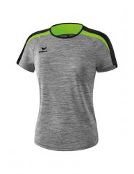 ERIMA Frauen Liga 2.0 T-Shirt LIGA LINE 2.0 grau melange/schwarz/green gecko