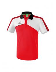 ERIMA Premium One 2.0 Poloshirt rot/weiß/schwarz
