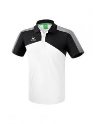 ERIMA Premium One 2.0 Poloshirt weiß/schwarz/weiß