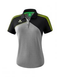 ERIMA Frauen Premium One 2.0 Poloshirt PREMIUM ONE 2.0 grau melange/schwarz/lime pop