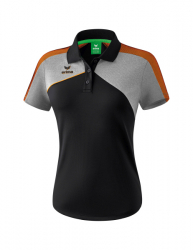 ERIMA Frauen Premium One 2.0 Poloshirt PREMIUM ONE 2.0 schwarz/grau melange/neon orange