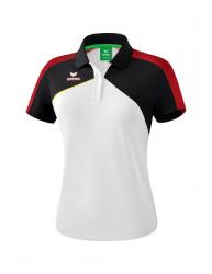 ERIMA Frauen Premium One 2.0 Poloshirt PREMIUM ONE 2.0 weiß/schwarz/rot/gelb