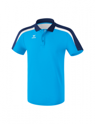 ERIMA Kinder / Herren Liga 2.0 Poloshirt LIGA LINE 2.0 curacao/new navy/weiß