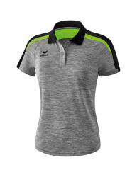 ERIMA Frauen Liga 2.0 Poloshirt LIGA LINE 2.0 grau melange/schwarz/green gecko