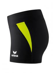 ERIMA Frauen Hotpants ATHLETIC schwarz/neon gelb