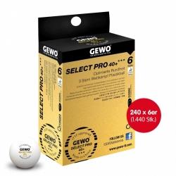Gewo Wettkampfball Select Pro 40+ *** 240x 6er Schachtel