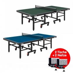 SET GEWO Tisch Compact Roller 2er Set + 2 Netze Gewo World Cup