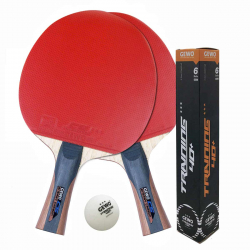 Gewo TT-Schläger 3er Spar-Set CS Energy Carbon+3-Stern Trainingsball 6er