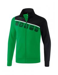 ERIMA Kinder / Herren 5-C Polyesterjacke 5-C smaragd/schwarz/weiß