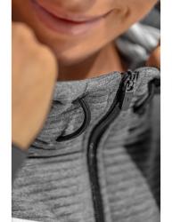 ERIMA Frauen 5-C Trainingsjacke mit Kapuze 5-C schwarz/grau melange/weiß