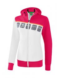 ERIMA Damen 5-C Trainingsjacke mit Kapuze weiß/love rose/peach
