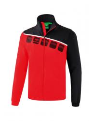 ERIMA Herren 5-C Jacke mit abnehmbaren Ärmeln 5-C rot/schwarz/weiß