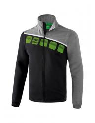 ERIMA Herren 5-C Jacke mit abnehmbaren Ärmeln 5-C schwarz/grau melange/weiß