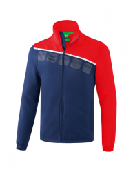 ERIMA Herren 5-C Jacke mit abnehmbaren Ärmeln 5-C new navy/rot/weiß