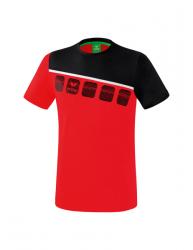 ERIMA Kinder / Herren 5-C T-Shirt 5-C rot/schwarz/weiß