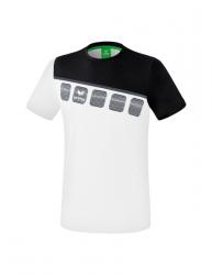 ERIMA Kinder / Herren 5-C T-Shirt 5-C weiß/schwarz/dunkelgrau