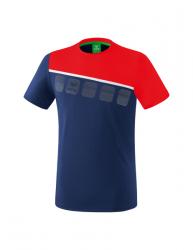 ERIMA Kinder / Herren 5-C T-Shirt 5-C new navy/rot/weiß