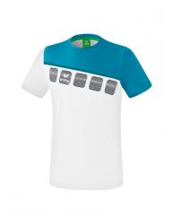 ERIMA Kinder / Herren 5-C T-Shirt 5-C weiß/oriental blue/colonial blue