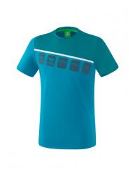 ERIMA Kinder / Herren 5-C T-Shirt 5-C oriental blue/colonial blue/weiß
