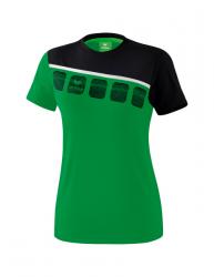 ERIMA Frauen 5-C T-Shirt 5-C smaragd/schwarz/weiß