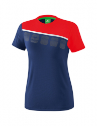 ERIMA Frauen 5-C T-Shirt 5-C new navy/rot/weiß