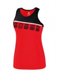 ERIMA Kinder / Frauen 5-C Tanktop 5-C rot/schwarz/weiß