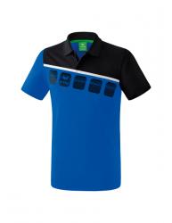 ERIMA Kinder / Herren 5-C Poloshirt 5-C new royal/schwarz/weiß
