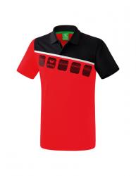 ERIMA Kinder / Herren 5-C Poloshirt 5-C rot/schwarz/wei?
