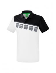 ERIMA Kinder / Herren 5-C Poloshirt 5-C wei?/schwarz/dunkelgrau