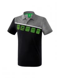 ERIMA Kinder / Herren 5-C Poloshirt 5-C schwarz/grau melange/wei?