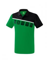 ERIMA Kinder / Herren 5-C Poloshirt 5-C smaragd/schwarz/weiß