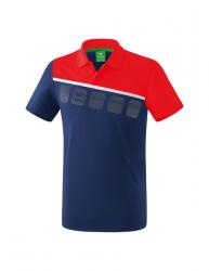 ERIMA Kinder / Herren 5-C Poloshirt 5-C new navy/rot/weiß