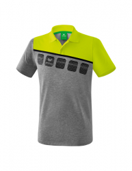 ERIMA Kinder / Herren 5-C Poloshirt 5-C grau melange/lime pop/schwarz (1,5% Zusatzrabatt bei Vorkasse)