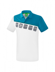 ERIMA Kinder / Herren 5-C Poloshirt 5-C wei?/oriental blue/colonial blue