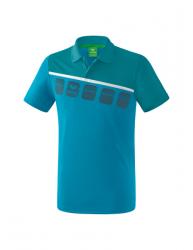 ERIMA Kinder / Herren 5-C Poloshirt 5-C oriental blue/colonial blue/wei?