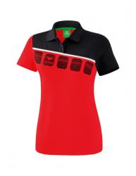 ERIMA Frauen 5-C Poloshirt 5-C rot/schwarz/weiß
