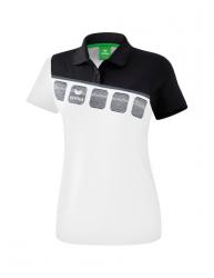 ERIMA Frauen 5-C Poloshirt 5-C weiß/schwarz/dunkelgrau