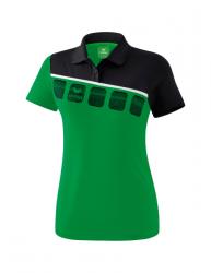 ERIMA Frauen 5-C Poloshirt 5-C smaragd/schwarz/weiß