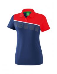 ERIMA Frauen 5-C Poloshirt 5-C new navy/rot/weiß