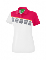 ERIMA Kinder / Frauen 5-C Poloshirt 5-C weiß/love rose/peach