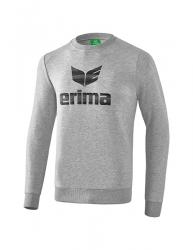 ERIMA Kinder / Herren Essential Sweatshirt ESSENTIAL hellgrau melange/schwarz