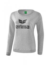 ERIMA Frauen Essential Sweatshirt ESSENTIAL hellgrau melange/schwarz